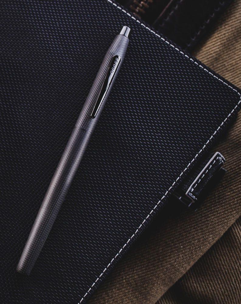 Cross Classic Century Brushed Black Fountain Pen - closed