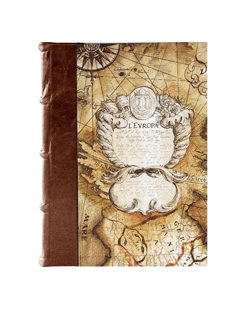 Bomo Art Medium Half Leather Bound Journal - Sailing Map