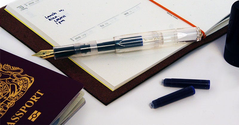 Budget Travel Essentials: Kaweco Classic Sport Fountain Pen - Transparent