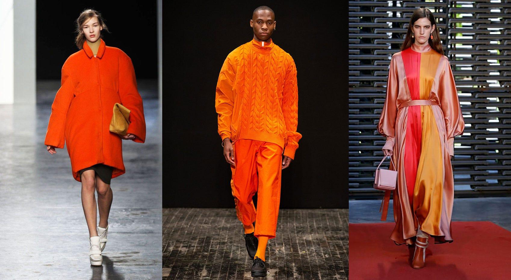 Spring/Summer 2019 Fashion Trends from London Fashion Week: 'Orange Overload'