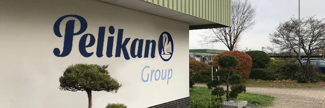 Pelikan Museum Exterior with company logo