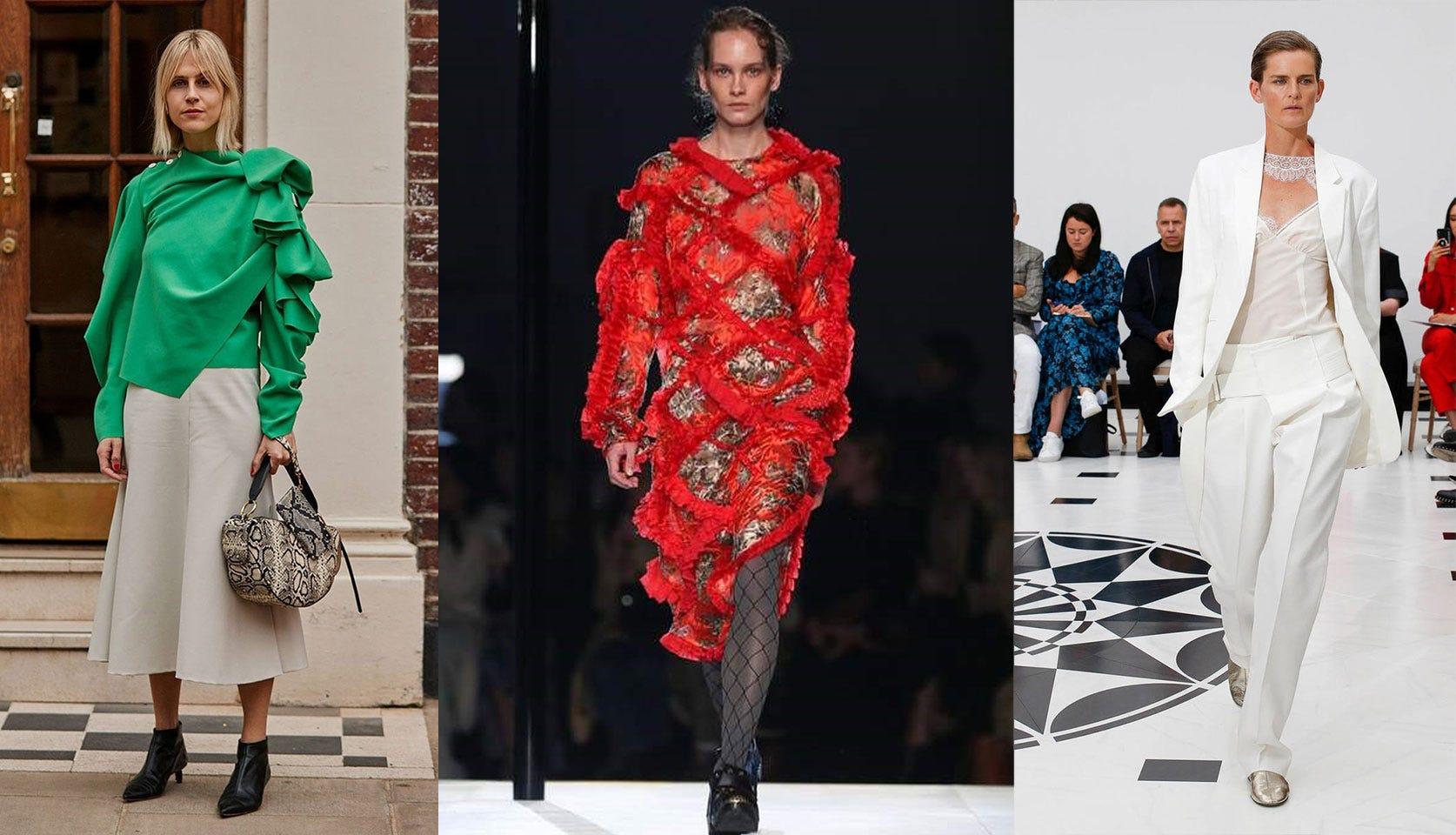 Spring/Summer 2019 Fashion Trends from London Fashion Week: 'Strawberries & Cream'