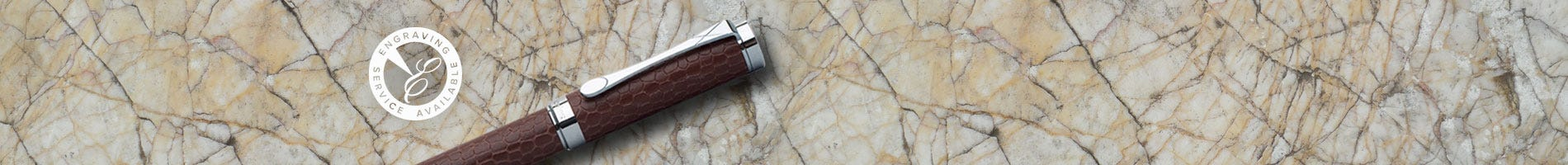 Coles Deluxe fountain pen brown leather