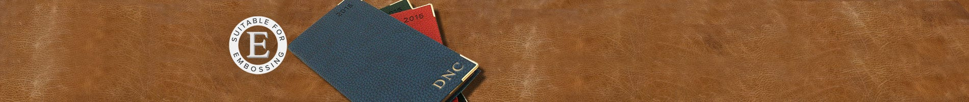 Leather refillable diary from Italy