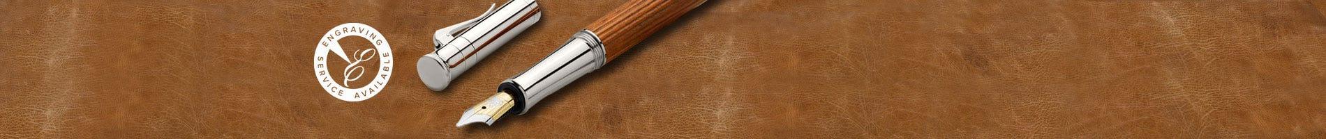 Graf von Faber-Castell guilloche cisele light grey pens
