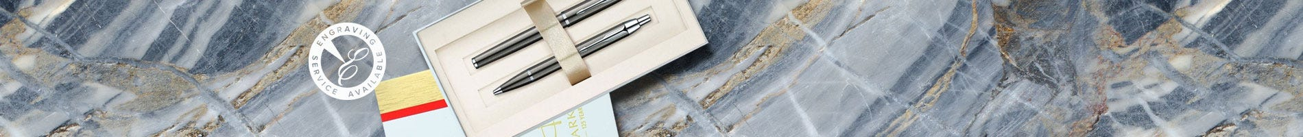 Parker pen gift set in gunmetal