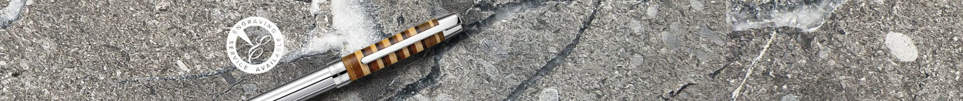 Laban brushed silver fountain pen