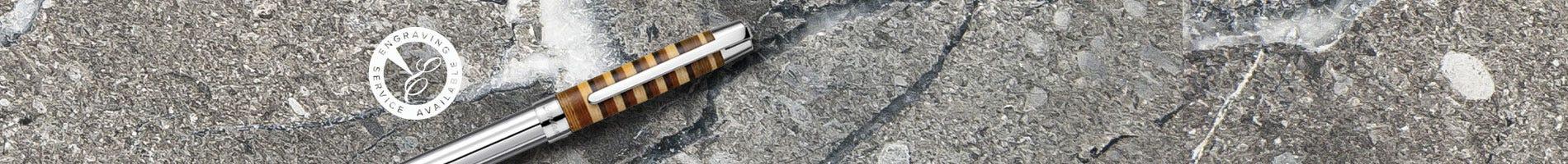 Laban africa wood sterling silver pen set