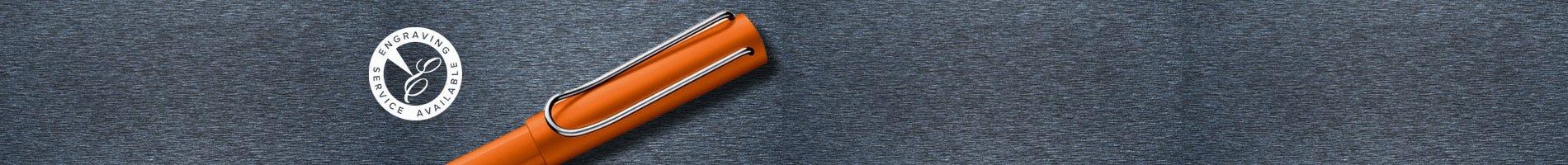 lamy bright orange fountain pen