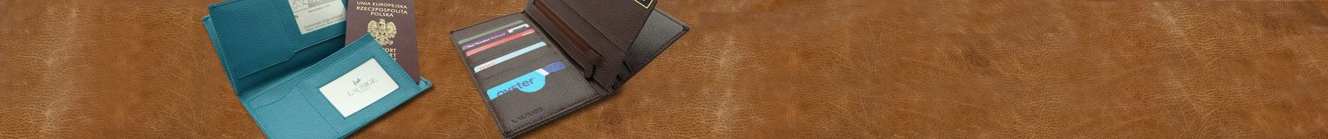 laurige leather wallet and travel dcument holder