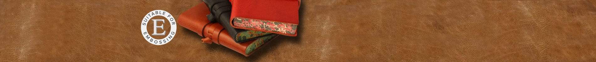 Italian leather journals with marble edge