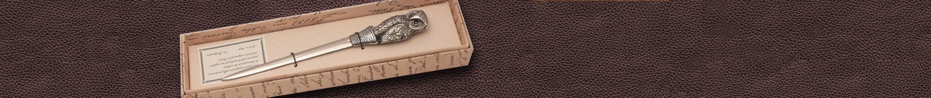 coles pewter letter opener owl design