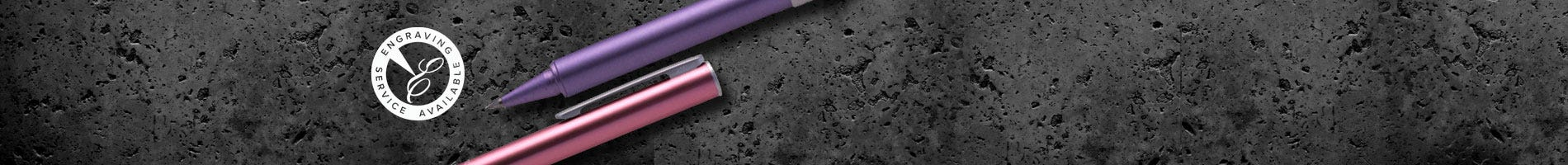 OHTO Tasche pink and purple rollerball pens