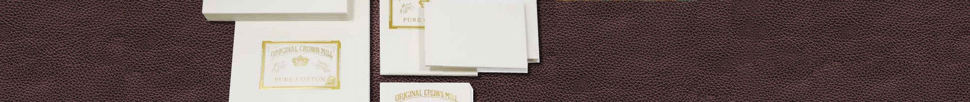 original crown mill cotton stationery