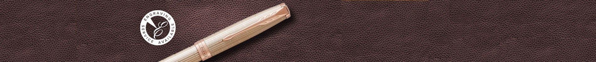 Parker Sonnet pen set stainless steel gold trim
