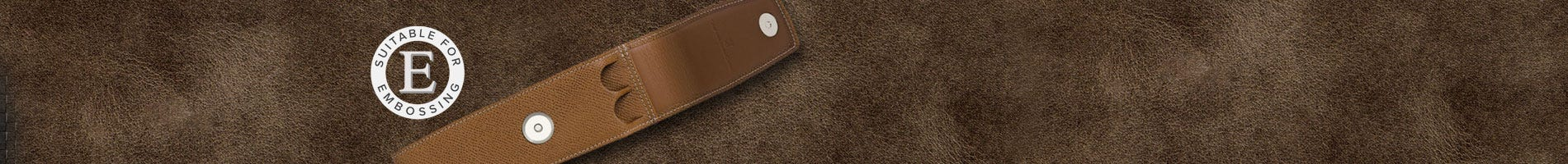 Black leather single pen case