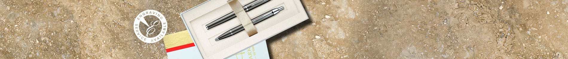 Parker IM gunmetal pen set in gift box