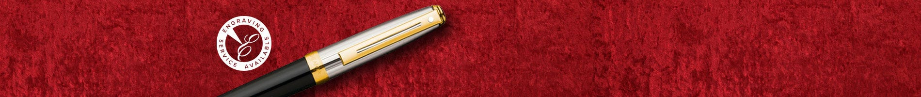 Sheaffer prelude fountain pen in black and chrome with gold accents