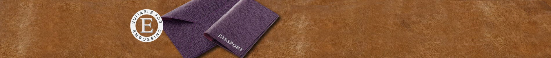leather passport and document holder