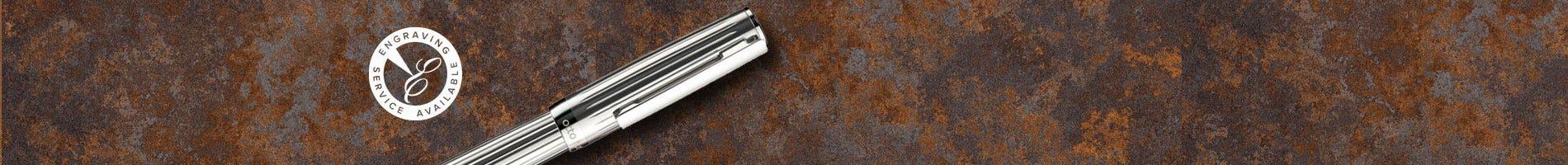Otto Hut lined sterling silver design 04 pen