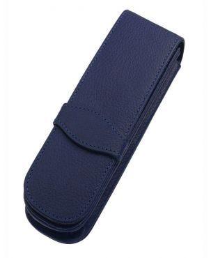 Online Leather 2 Pen Case - Classic Blue