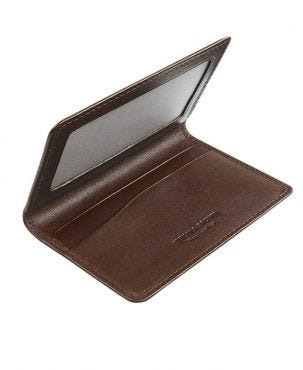 Byron & Brown Classic Travel Card Holder - Brown