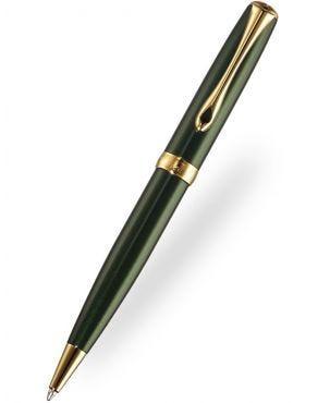 Diplomat Excellence Evergreen Gold Trim Ballpoint Pen