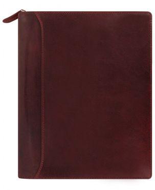Filofax Lockwood A5 Zip Organiser - Garnet Red