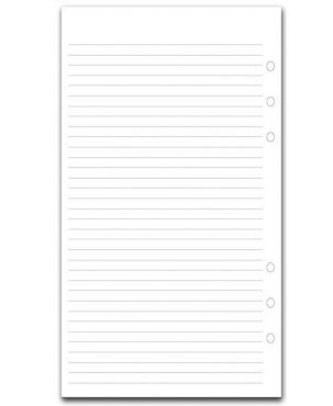 Filofax A5 Refill - White Ruled Notepaper