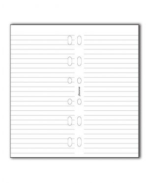 Filofax Pocket Refill - White Ruled Notepaper