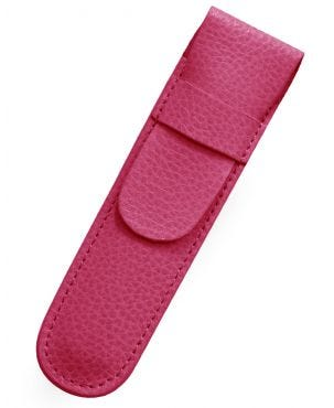 Laurige Leather 1 Pen Case - Fuchsia