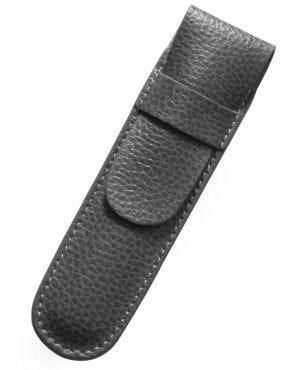 Laurige Leather 1 Pen Case - Grey
