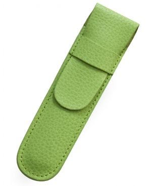 Laurige Leather 1 Pen Case - Lime Green