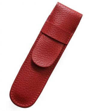 Laurige Leather 1 Pen Case - Red