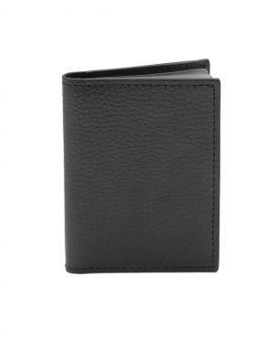 Laurige Leather Credit Card Holder - Black