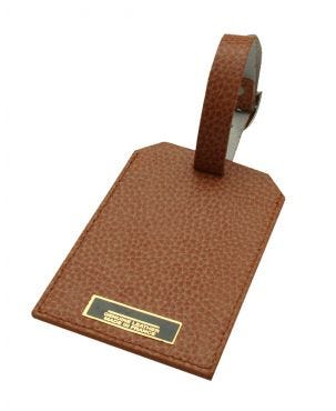 Laurige Leather Luggage Tag - Tan