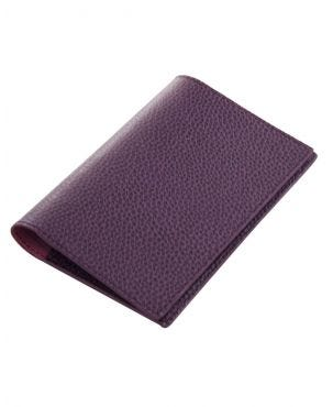 Laurige Leather Passport & Travel Documents Holder - Aubergine