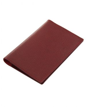 Laurige Leather Passport & Travel Documents Holder - Burgundy