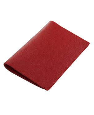 Laurige Leather Passport & Travel Documents Holder - Red