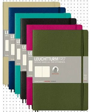 Leuchtturm1917 B5 Soft Cover Notebook - Dotted Paper