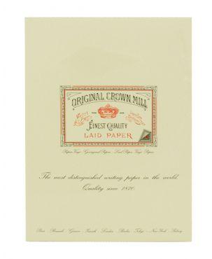 Original Crown Mill Laid Paper A4 Writing Pad - Cream