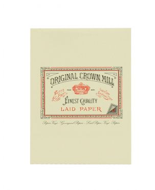 Original Crown Mill Laid Paper A5 Writing Pad - Cream