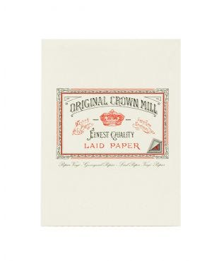 Original Crown Mill Laid Paper A5 Writing Pad - White