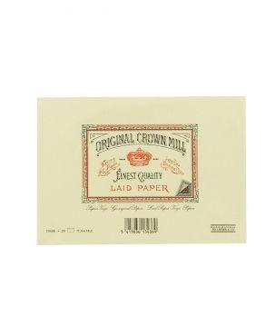 Original Crown Mill Laid Paper C6 Lined Envelopes - Cream