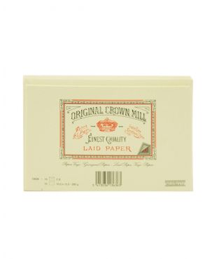 Original Crown Mill Laid Paper Set of 15 Cards and Envelopes - Cream