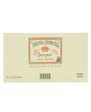 Original Crown Mill Laid Paper DL Lined Envelopes - Cream