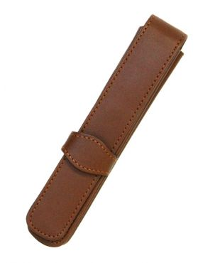 Online Leather 1 Pen Case - Brown