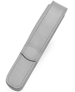 Online Leather 1 Pen Case - Light Grey