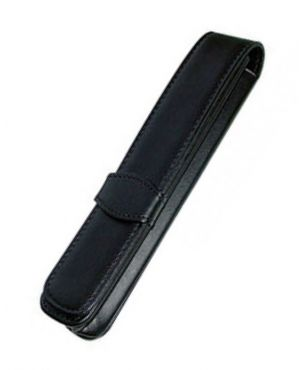Online Leather 1 Pen Case - Black
