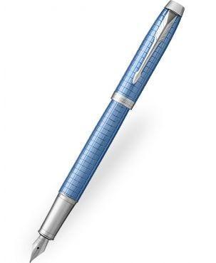 Parker IM Premium Blue Chiselled Fountain Pen